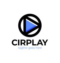 circle abstract infinity loop logo design vector image