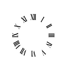 clock face with roman numerals vector image