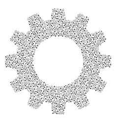Cogwheel mosaic of connection links icons vector