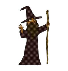 Comic cartoon spooky wizard vector