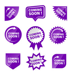 coming soon product labels set image vector image