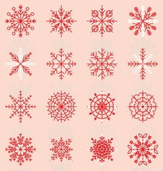 Create snowflake icons with reflect vector