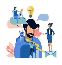 creative people team work vector image
