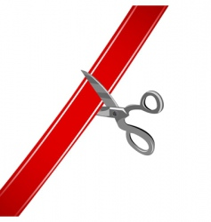 cutting ribbon vector image