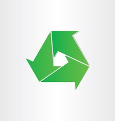 eco recycle symbol green arrows vector image