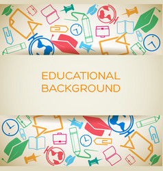 educational light background vector image