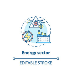 energy sector concept icon vector image