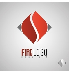 Flame logo template Oil and gas logo Fire vector