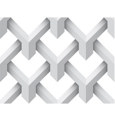 Geometric 3d seamless background gray texture vector