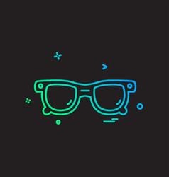 Glasses icon design vector