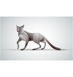 Gradient animal logo design Stipple cat vector image