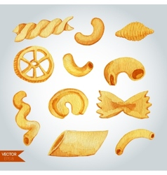 Hand Drawn Pasta Varieties vector