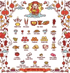 Happy Chinese New Year God of Wealth vector image