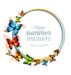 Happy summer holiday background with colorful vector
