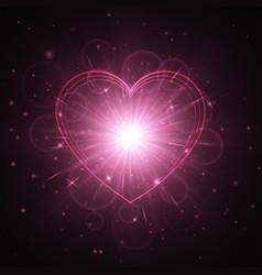 Heart background pattern vector