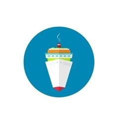 Icon passenger cruise ship vector
