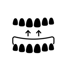 Implanted teeth icon black vector