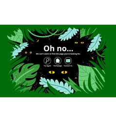 Jungle error page vector image