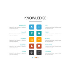 knowledge infographic cloud design template vector image