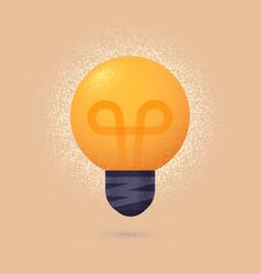 Light bulb isolated design element vector