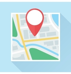 Map with Location Mark Flat Icon vector