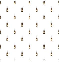 Medicine brown bottle of spray pattern vector