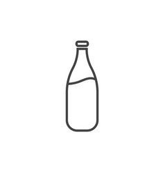 milk bottle icon isolated design graphic vector image