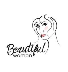 Modern beautiful woman logo vector
