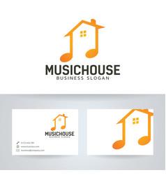 Music house logo design vector