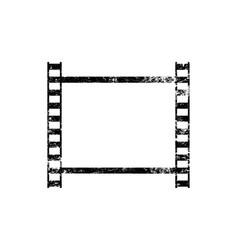 one old vintage frame retro filmstrip vector image