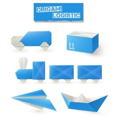 Origami Logistic Set vector image