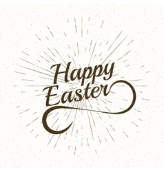Playful Hand Lettering Series Happy Easter vector image