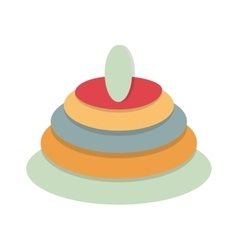 Pyramid baby toy vector