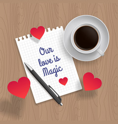 Quote romantic date vector