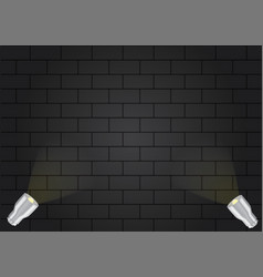 realistic metal lamp and lighting on the wall vector image