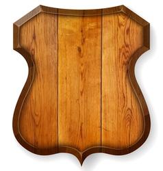 Realistic wooden board vector image