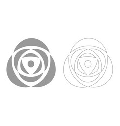 Rose grey set icon vector