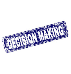 scratched decision making framed rounded rectangle vector image