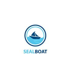 Sealing boat logo vector