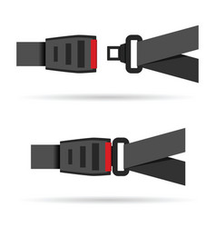 seat belt icon vector image