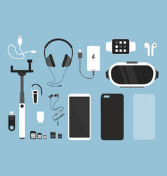 set of smartphone and vector image
