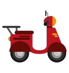 single scooter icon vector image