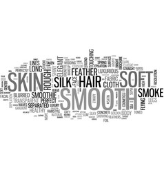 smooth word cloud concept vector image