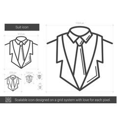 Suit line icon vector