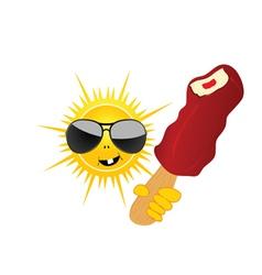 sun with ice cream vector image