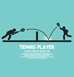 Tennis Player Graphic Symbol vector image