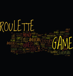 The origin of roulette text background word cloud vector