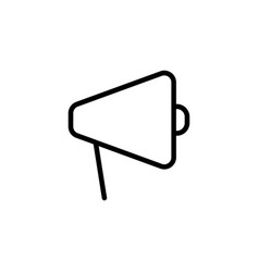 thin line megaphone icon vector image