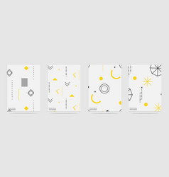 trendy geometric elements memphis pattern set vector image
