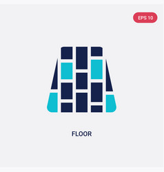 Two color floor icon from furniture household vector